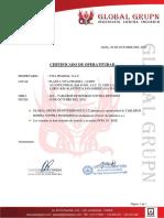 CERTIFICADO DE OPERATIVIDAD TABLEROS DE BOMBA CONTRA INCENDIOS VITA PHARMA
