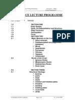 01Geoscience Lecture Program