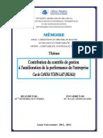 Contribution du controle de gestion à l'amélioration de la performance de l'entreprise.pdf