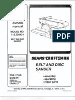 Sears Belt Sander L0711118