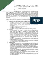 Strategi Sukses UN SMAN 1 Kembang Tahun 2011