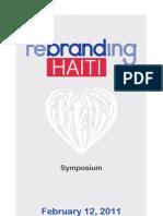 BrandHaiti Rebranding Haiti Symposium Program