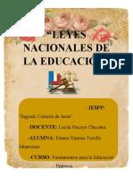 LEYES NACIONALES DE LA EDUCACIÓN