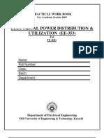 EE-353--ELECTRICAL POWER DISTRIBUTION & UTILIZATION.