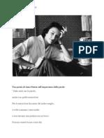 Anne Sexton - poesia sull'importanza delle parole - Documentos de Google