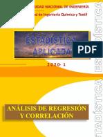 ANÁLISIS DE REGRESIÓN Y CORRELACIÓN 2020-1