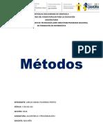 TRABAJO DE METODOS- PROGRAMACION I