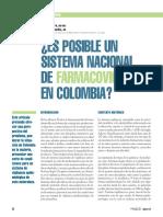 ARTICULO ES POSIBLE UN SISTENA NACIONAL DE FARMACOVIGILANCIA EN COLOMBIA