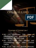 Criminal Law 1 for Criminology Students