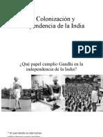 Colonización e independencia de la India