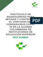 Protocolo bioseguridad SUMMA