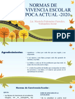 NORMAS DE CONVIVENCIA ESCOLAR EN EPOCA DE AISLAMIENTO