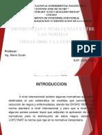 DIFERENCIAS Y SIMILITUDES ENTRE LAS NORMAS OHSAS 18001 Y LA LOPCYMAT