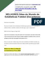 Melhores Sites de Estatisticas de Futebol (site de estatísticas de futebol escanteios)