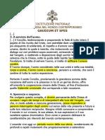 Gaudium et spes - sintesi per pastorale liturgica