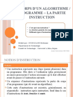 0003- Corps dun Algorithme-Programme (instructions).ppsx