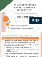 0004- Lecture, Ecriture et Affectation.ppsx
