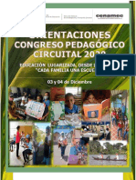 Orientaciones Congreso Pedagogico Circuital 2020 08-11-2020