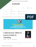 5 astuces pour utiliser la preuve sociale en marketing - Apprenti Millionnaire.pdf