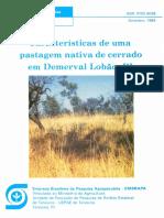 Caracteristicas de uma pastagem nativa de cerrado em Demerval Lobao, PI
