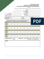OGC-FIC-004-I-Cable Insulation Resistance-Field Installation Checklist
