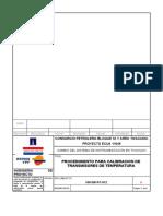 109-D91PC-012 - PROCEDIMIENTO CALIBRACION TRANSMISORES DE TEMPERATURA REV 0