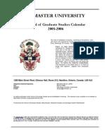 2006 Graduate study calender