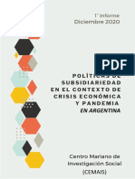 1° informe Cemais-  6 de diciembre 2020