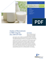 PKI_AN_2016_Analysis of Micronutrients in Milk Using the Avio 200 ICPOES