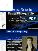 Review Notes in Police Photography