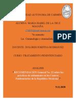 RÉGIMEN DISCIPLINARIO TRAMIENTO PENINTENCIARIO
