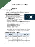 Identificación de direcciones MAC y direcciones IP