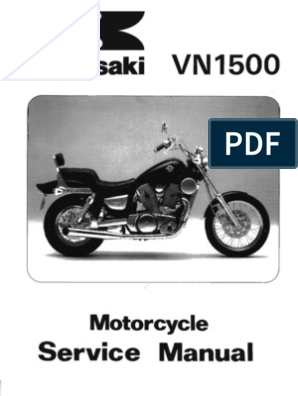 Kawasaki VN1500 '87-'99 Service Manual | Nut (Hardware) | Screw