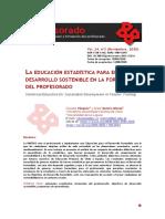 2020-LA EDUCACIÓN ESTADÍSTICA PARA EL DESARROLLO SOSTENIBLE EN LA FORMACIÓN DEL PROFESORADO