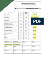 16001 - Setembro Registo Verificação Caixa Primeiros Socorros