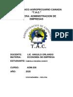 NUEVO MODELO ECONÓMICO DE BOLIVIA