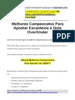 Melhores Campeonatos Apostar Escanteios Gols.pdf