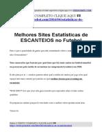 Campeonato Brasileiro Estatistica de Cantos (dicas para apostar em escanteios)