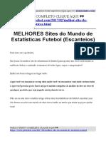 Site de Estatisticas de Futebol Escanteios (central de estatisticas futebol)