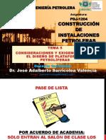 CIP - UT5 - Consideraciones y exigencias p- diseño de plataformas petroliferas - Dr. Jose A. Sarricolea Valencia