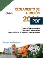 REGLAMENTO DE ADMISION 2020