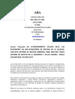 Proopuesta ISO 900, 14.000-18000