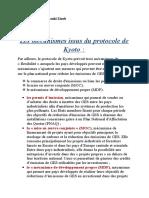 Les Mécanismes Issus Du Protocole de Kyoto