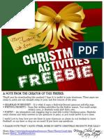 CHRISTMASFREEBIEAFewEnglishActivities