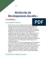 Recherche du Développement durable ( Vocabulaire )
