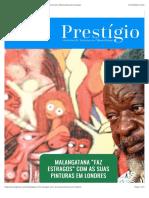 Malangatana Valente, Bertina Lopes, Mário Macilau e Ernesto ShikhaniRevista Prestígio