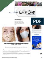 Como Fazer Máscara de Tecido Anatômica para Proteção_ Molde + Passo a Passo • Ei, é Útil! _ ANA & ISA