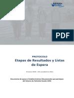 Protocolo para EE de resultados y listas de espera