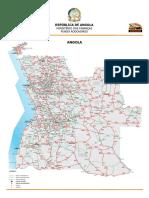Mapa Rodoviario Angola