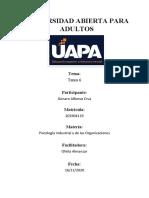 PSICOLOGIA INDUSTRIAL Y DE LAS ORGANIZACIONES TAREA 6 -GENARO.docx